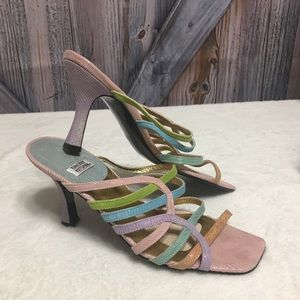 Vintage Timothy Hitsman Leather Pastel Heels